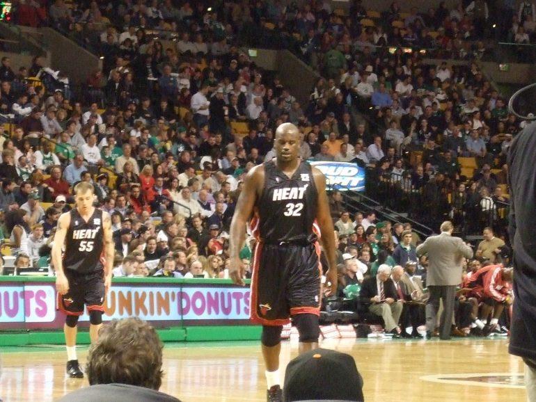 Shaun lives out a boyhood dream - Court side Celtics 13