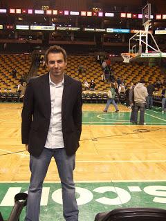 Shaun lives out a boyhood dream - Court side Celtics 2