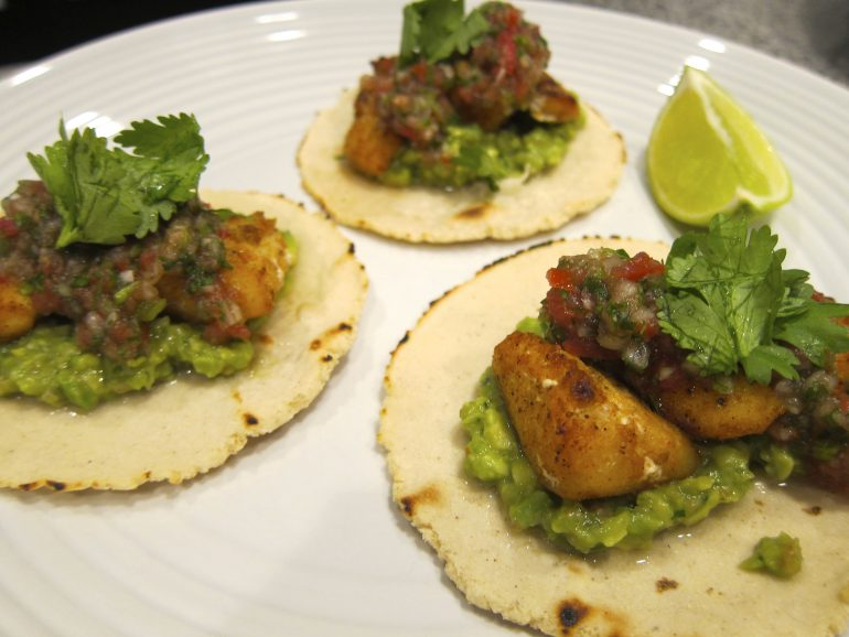 Halibut cheek fish tacos this life in trips for Halibut fish tacos