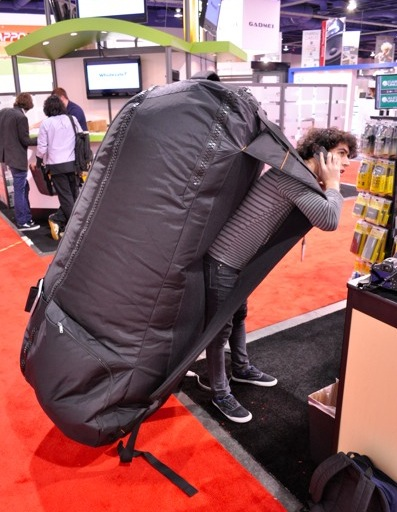 Backpacking with a bad back may feel like this.