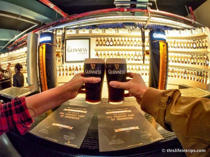 visiting the Guinness Storehouse