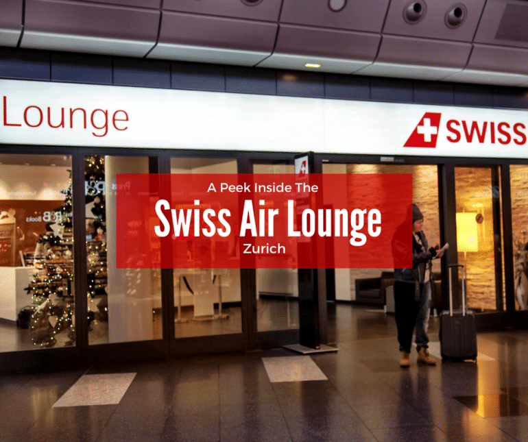 the Zurich Swiss Air Lounge