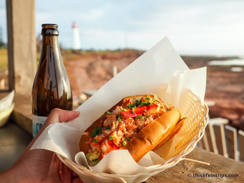 Visiting Prince Edward Island highlights - Lobster Roll