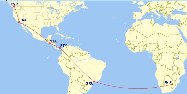 AEROPLAN MIN-RTW Booking
