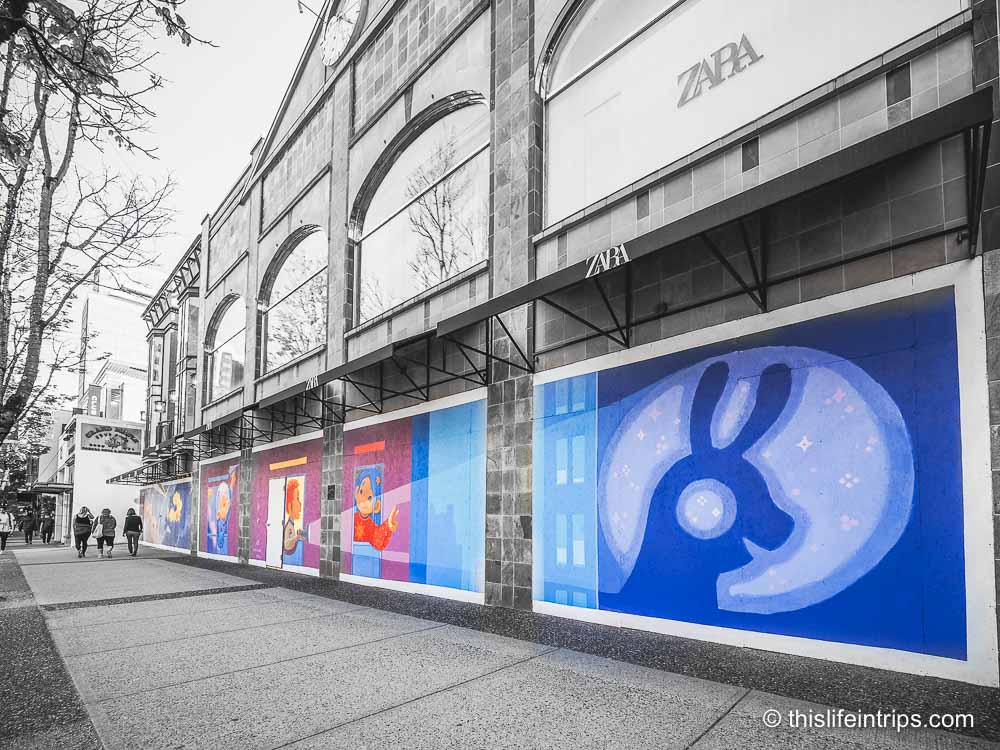 Temporary Vancouver Street Art Brings Some Colour to a Drab Situation