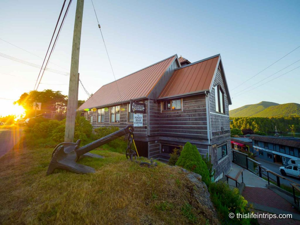 Ucluelet Brewing company building